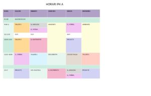 Horari P4 A